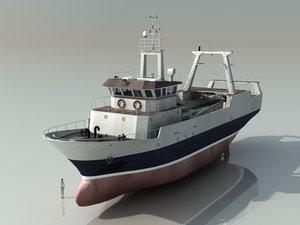 3ds max stern trawler