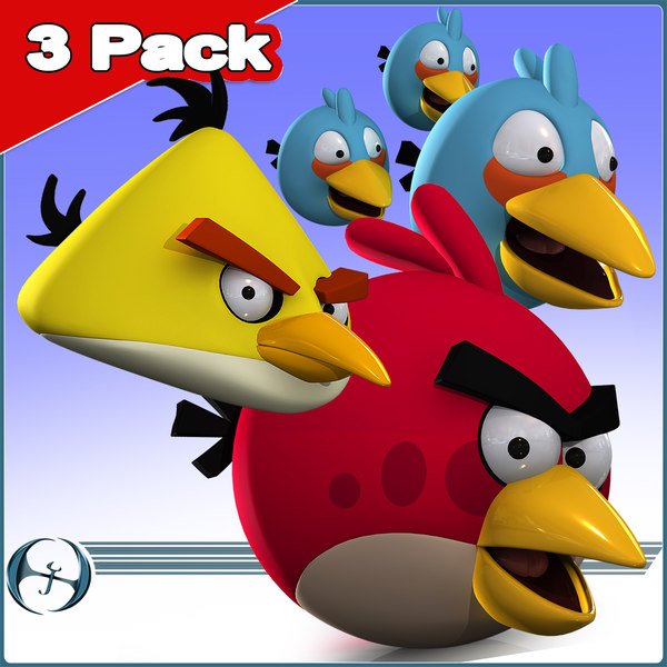angry bird 3 pack 3d 3ds