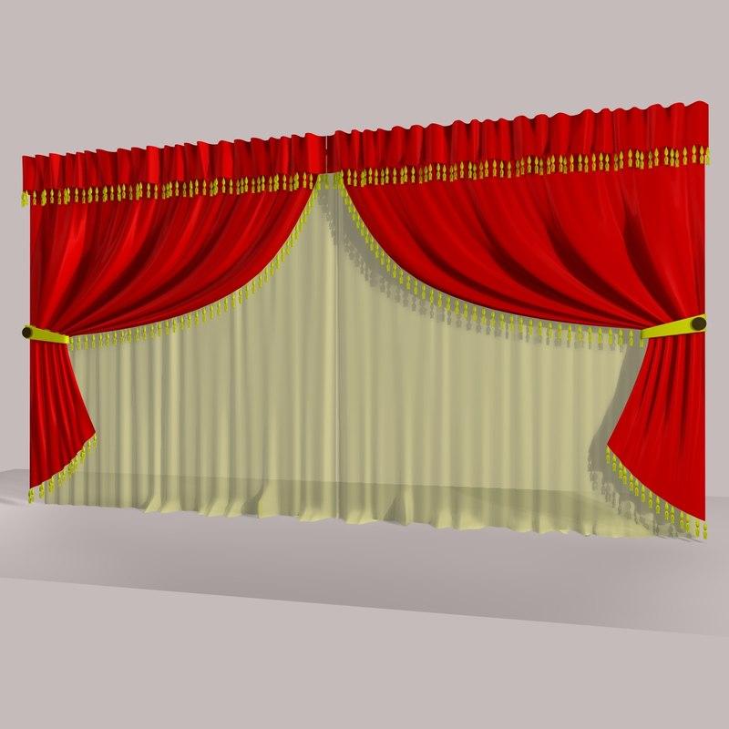 curtain 5 c4d