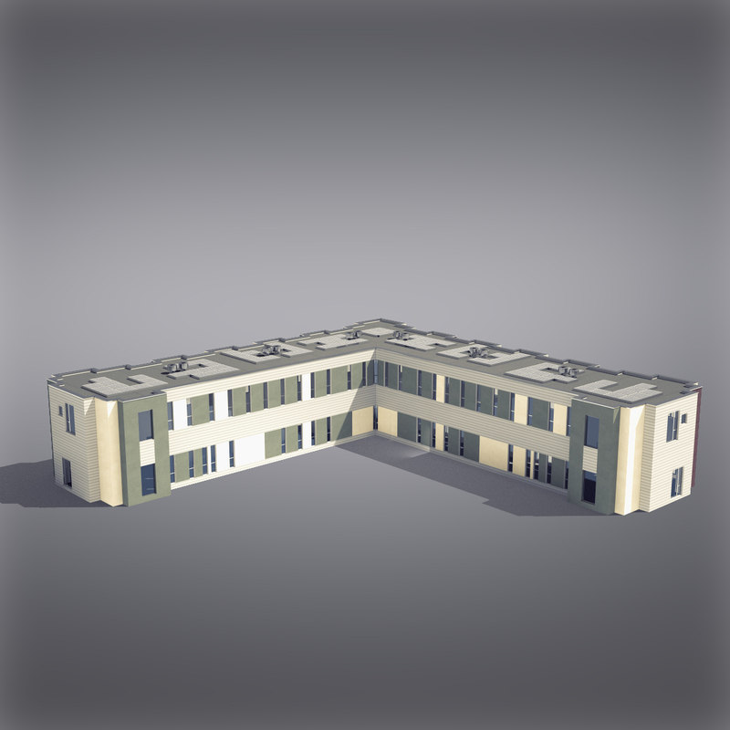 modern generic building architectural 3d max