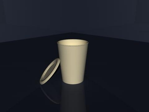 3d cardboard coffee cup model