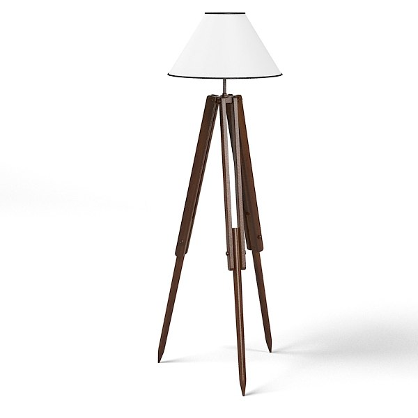 3d floor tripod lamp model