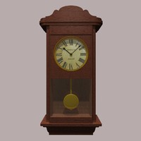 3d model clock grandfather
