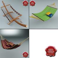 3dsmax hammocks set modelled