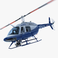 Bell Jetranger 206 Los Angeles Police Helicopter