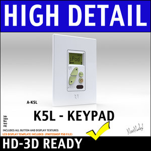 3d amplified keypad lcd display