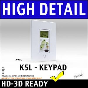 3d amplified keypad lcd display