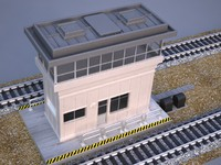 3d tower signal train model