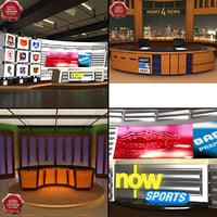 news tv studios 3d max
