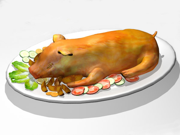 3ds max roasted pig