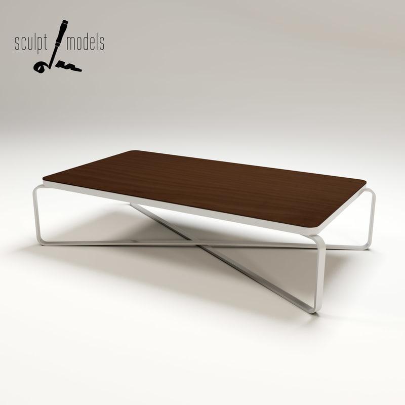 metro coffee table 3d model