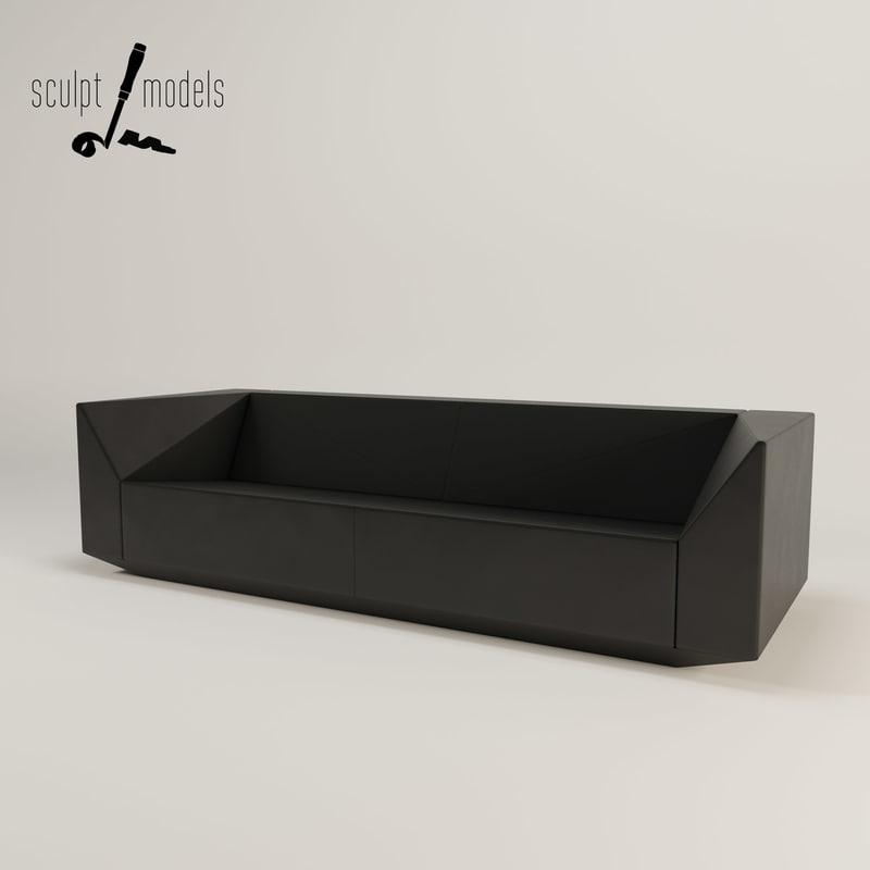 3d ghost sofa model