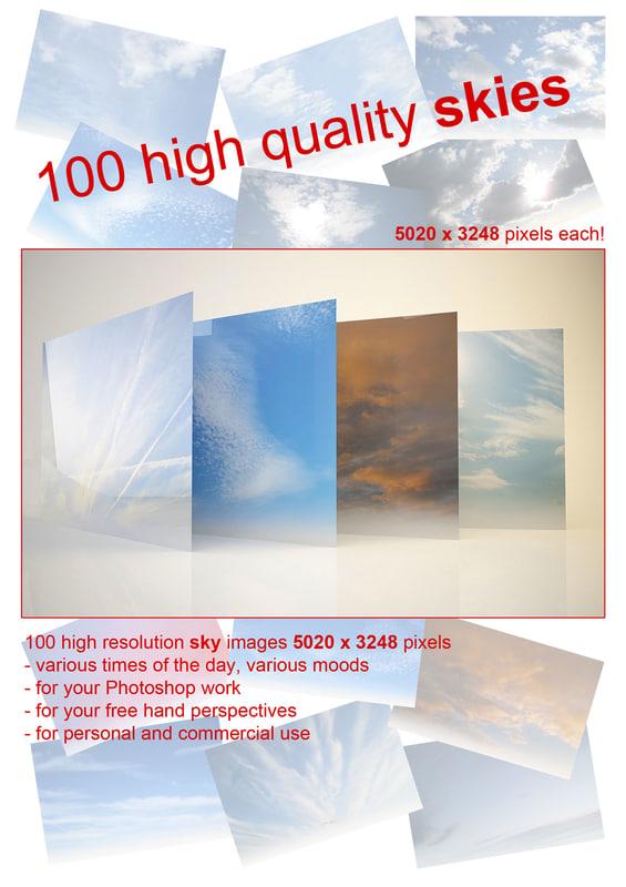 3ds 100 sky images