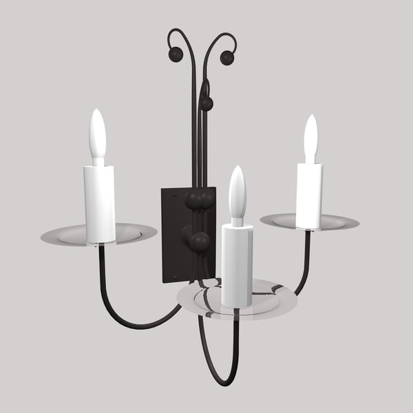 3dsmax gothic wall lamp light