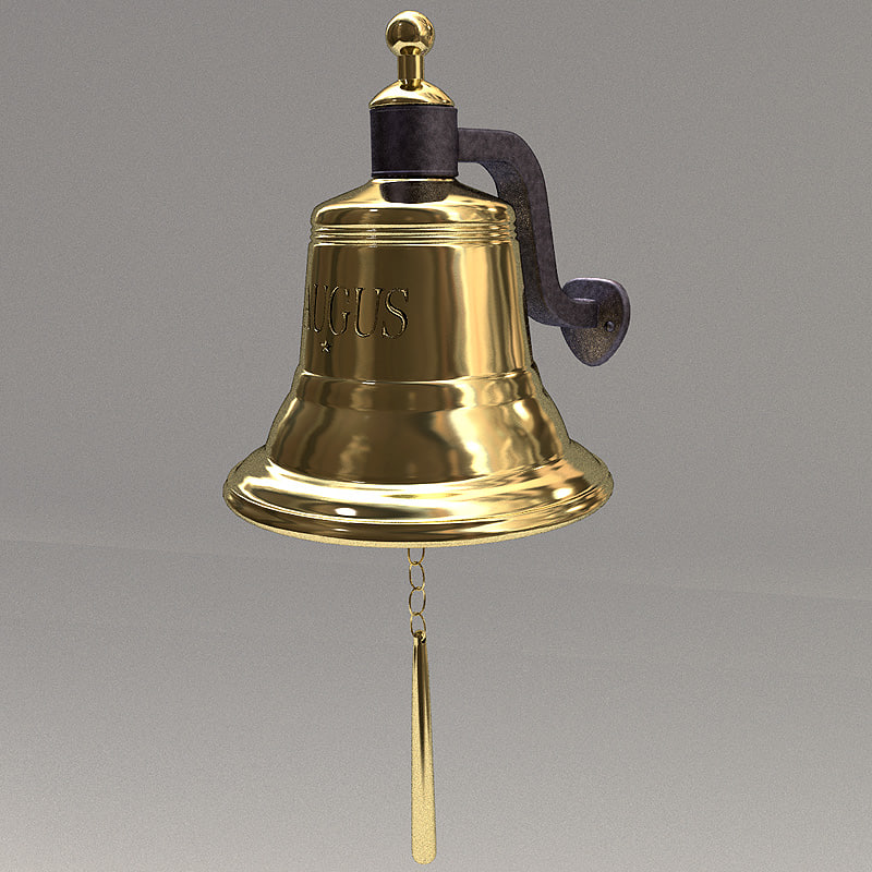 ship s bell brass 3d model