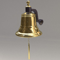 ship s bell brass 3d model