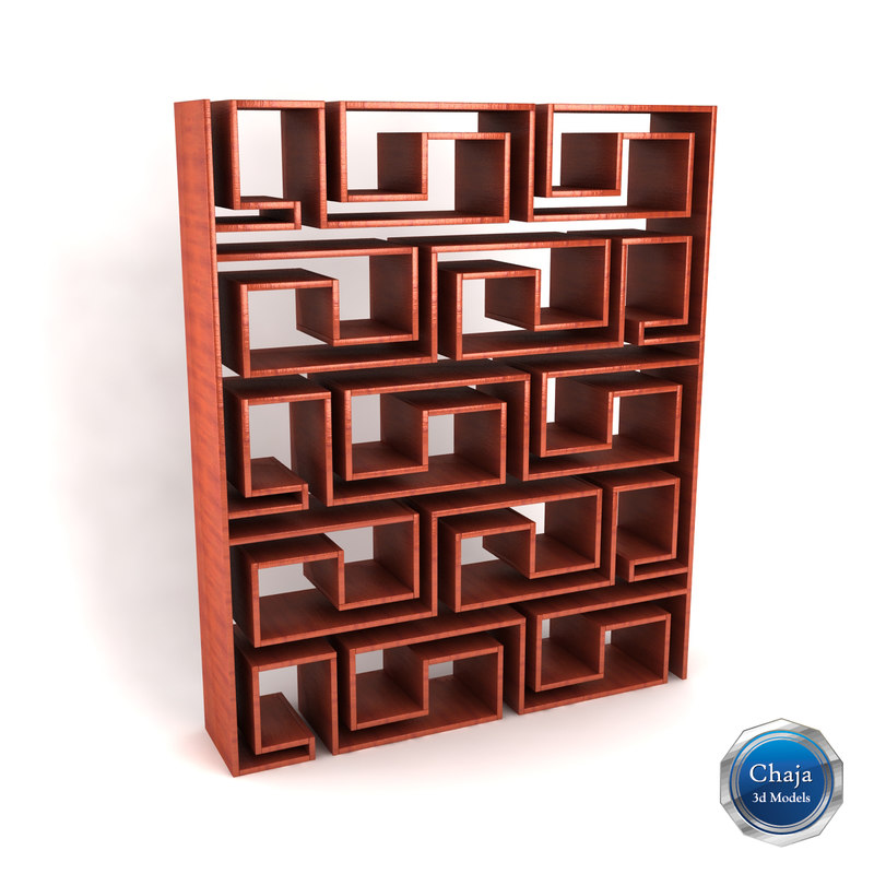 3d bookcase book model