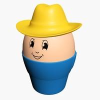 egg toy 3d model