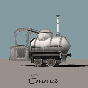 locomotive emma 3d 3ds