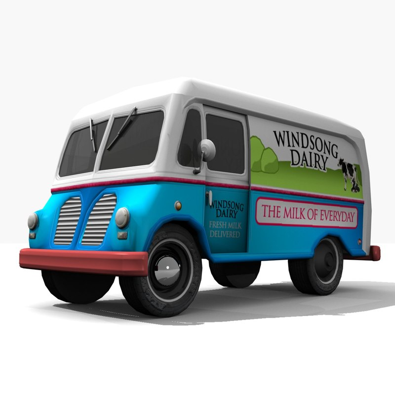 max old fashioned milk truck