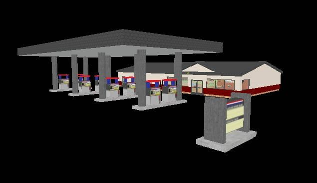 gas station interior 3ds free