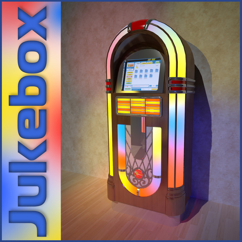 jukebox monitor 3d model