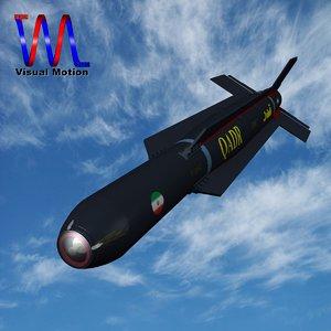 iranian qadr bomb 3d model