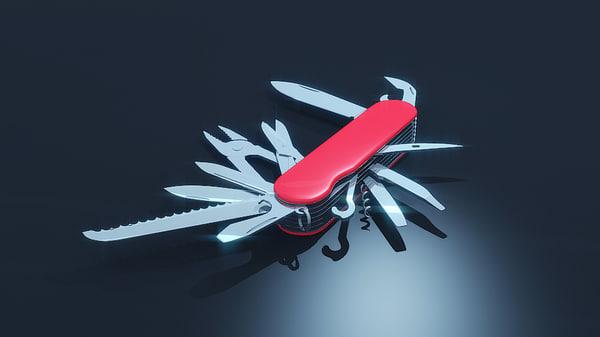 tools swiss army knife 3d obj