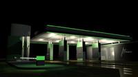 3d model gas station