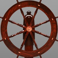old boat steering 3d model