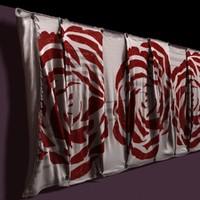 cloth cover walls 3d model