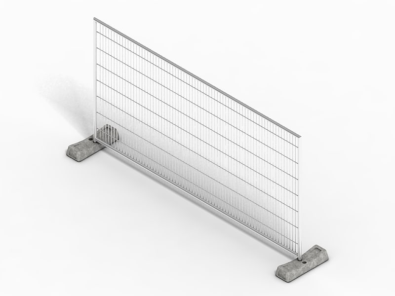 construction fence 3d model