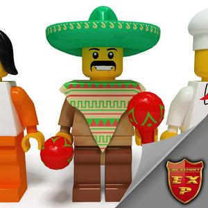 maya lego 10 characters