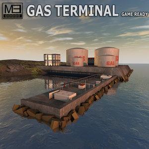 gas terminal 3d 3ds