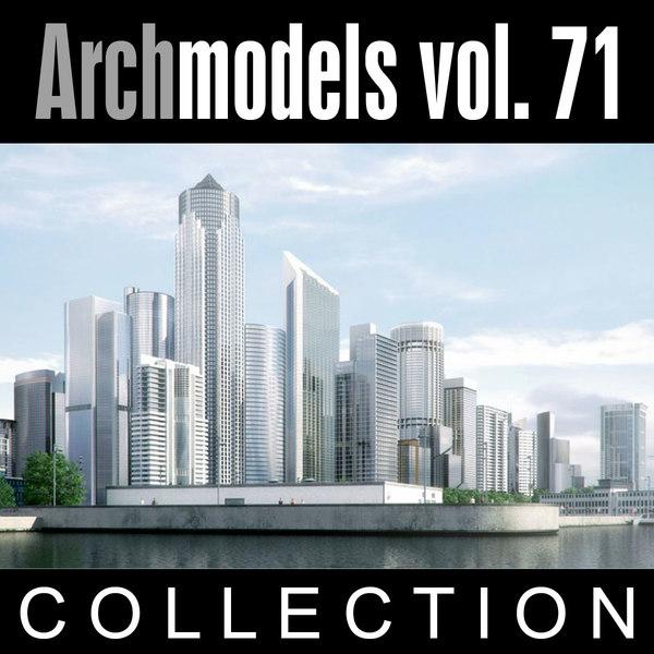 archmodels vol 71 skyscrapers 3d model