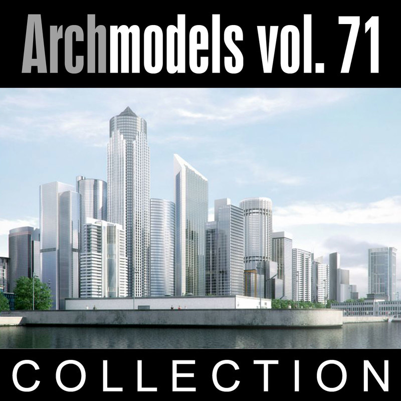 archmodels vol 71 skyscrapers 3d model