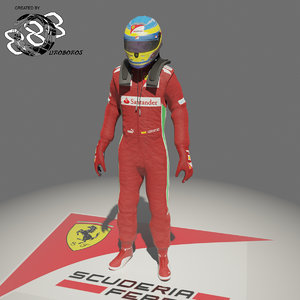 3d model formula fernando alonso 2012
