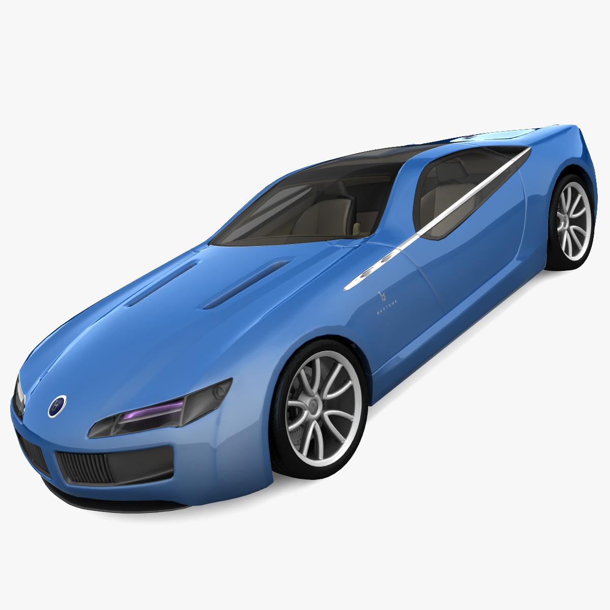 3d realistic bertone birusa concept car