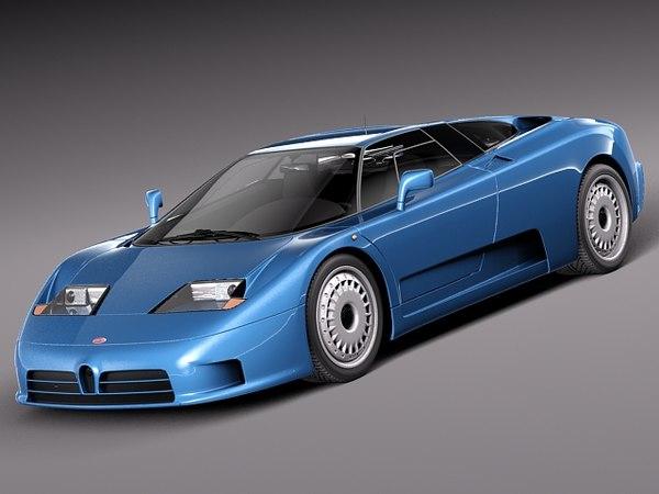 3d model of bugatti eb110 sport supercar