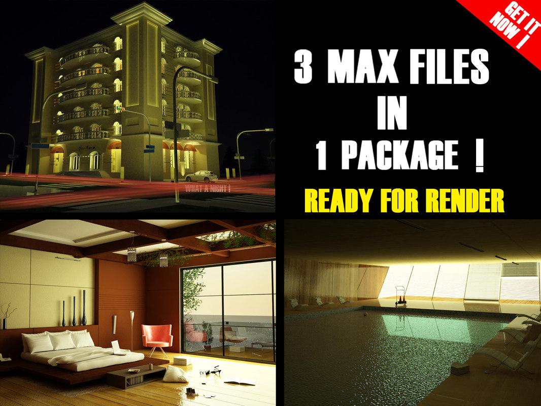 3ds max scenes 1 exterior building