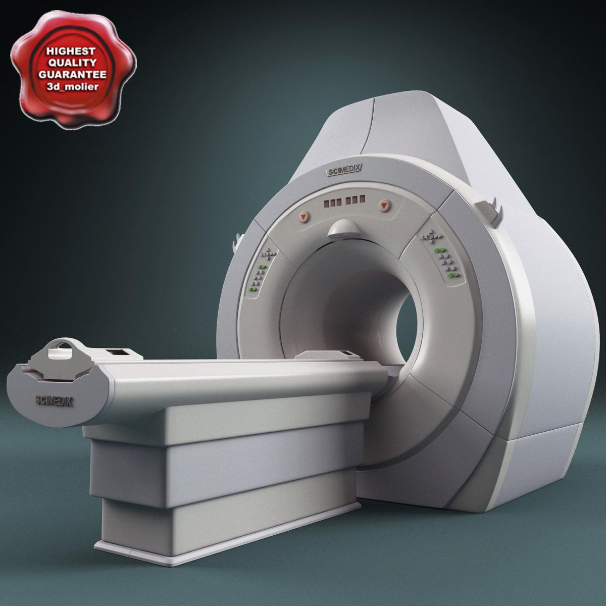ct scanner scimedix mrt 3d model