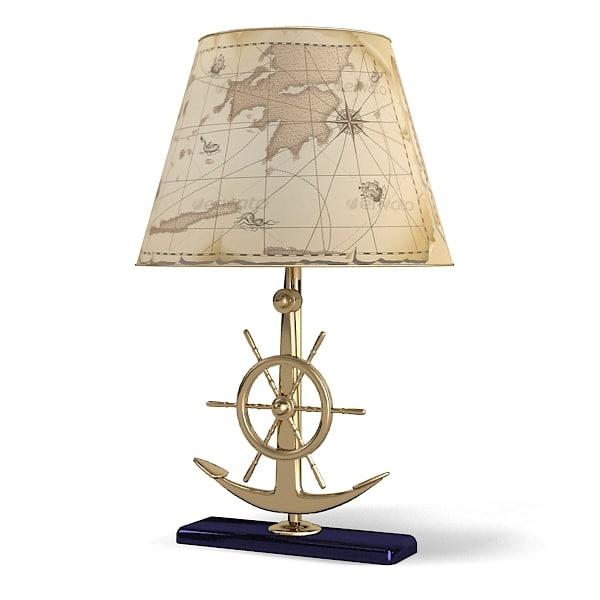 Caroti Table Lamp Sea Theme Handweel Ship Sea Anchor Children Kids