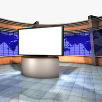 News Set With HD Monitor