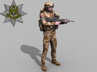 British Royal Anglian Desert Rigged Soldier