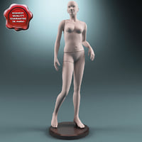 3d model female mannequin v6