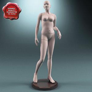 3d model female mannequin v6