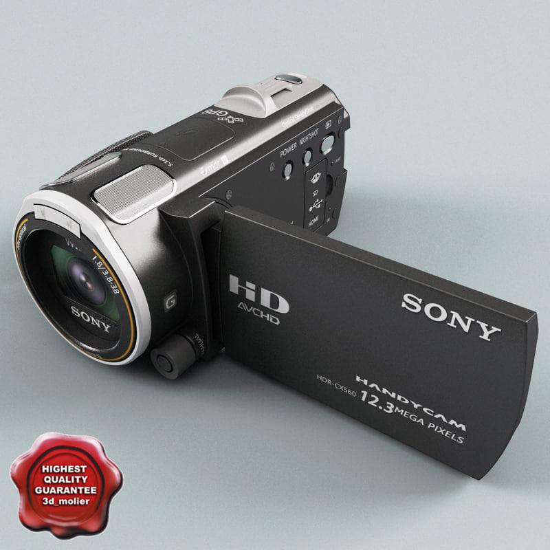 handycam sony hdr-cx560v 64gb 3d model