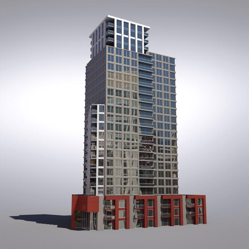 3d buildings vancouver architectural model