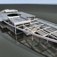 3dsmax building modern