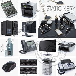 office equipment ip stationery 3d model
